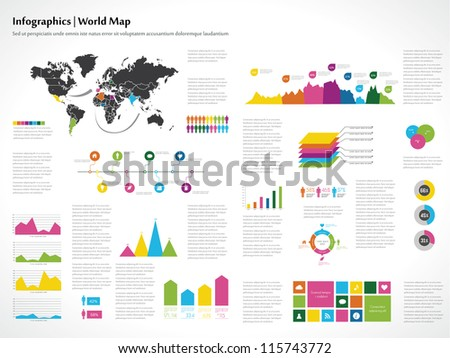 Infographics set. World Map and Information Graphics