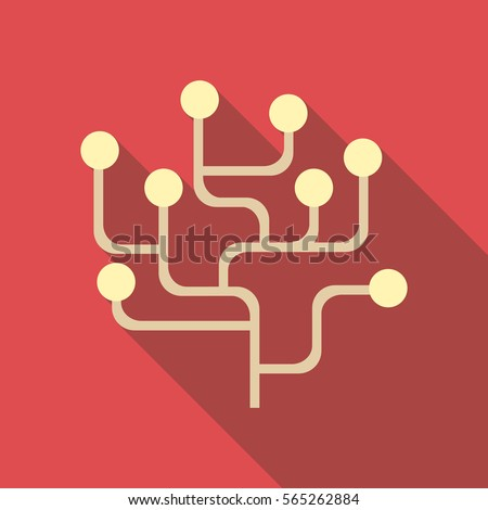 Infographics structure icon. Flat illustration of infographics structure vector icon for web design