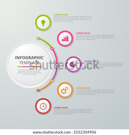 Infographics template for business, education, web design, banners, brochures, flyers. Vector illustration. #1032304906