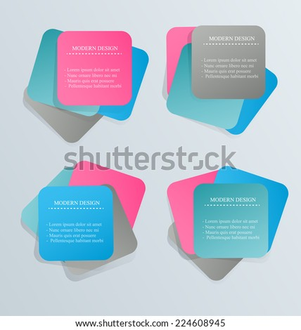Infographics template for business education web design banners brochures flyers Vector illustration