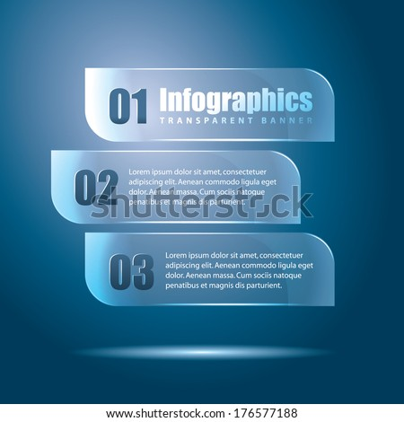 infographics transparent banner