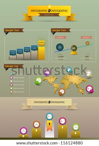 Infographics world graph