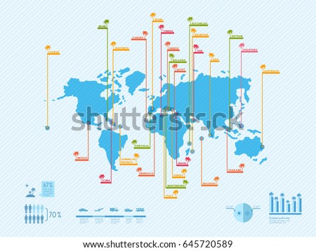 infographics world map with