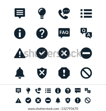 Information and notification icons