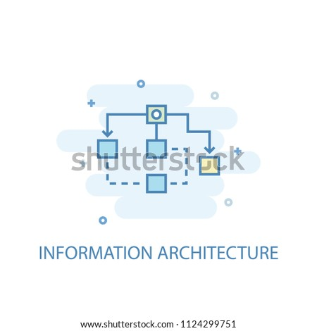 Information Architecture concept trendy icon. Simple line, colored illustration. Information Architecture concept symbol flat design from eCommerce  set. Can be used for UI/UX