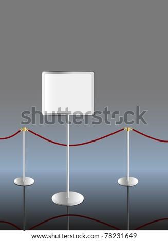 information board,free copy space, vector