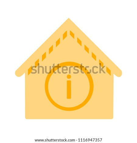 information building icon - vector business web symbol. real estate house