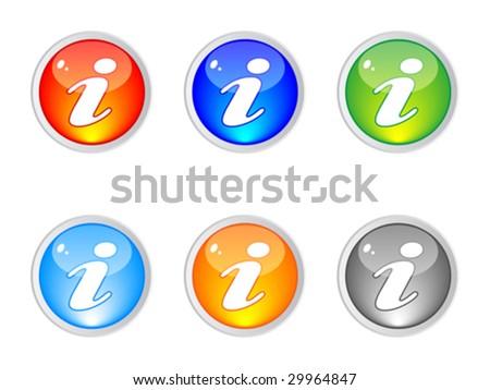 information buttons editable vector