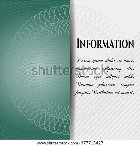 Information card, poster or banner