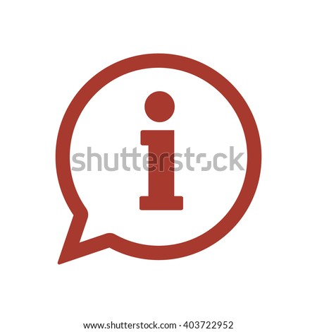 Information  icon,  isolated. Flat  design.
