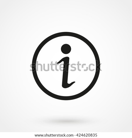Information icon isolated on background. Modern flat pictogram, business, marketing, internet concept. Trendy Simple vector symbol for web site design or button to mobile app. Logo illustration