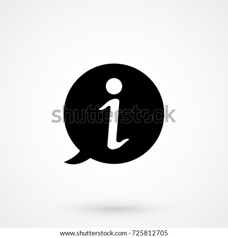 Information icon isolated on background. Modern flat pictogram, business, marketing, internet. Trendy Simple vector symbol for web site design or button to mobile app. Logo illustration