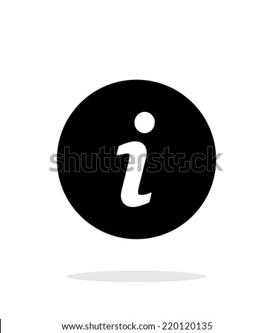 Information icon on white background. Vector illustration.