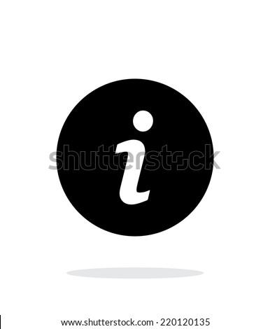 information icon on white...