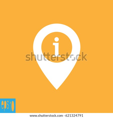 Information icon ,sign , map icon - vector illustration