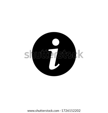 Information icon vector. Faq and details icon symbol Foto stock ©
