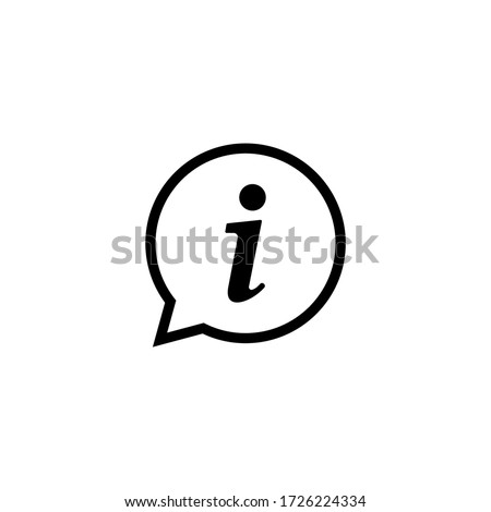 Information icon vector. Faq and details icon symbol