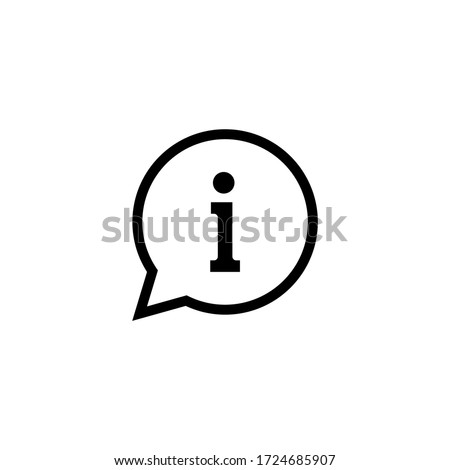 Information icon vector. Faq and details icon symbol in bubble vector Foto stock ©