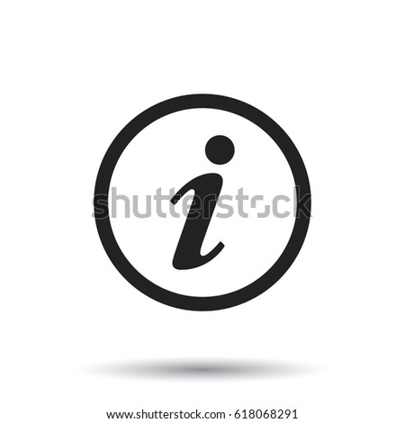 Information Icon vector illustration in flat style isolated on white background. Symbol for web site design, logo, app, ui.