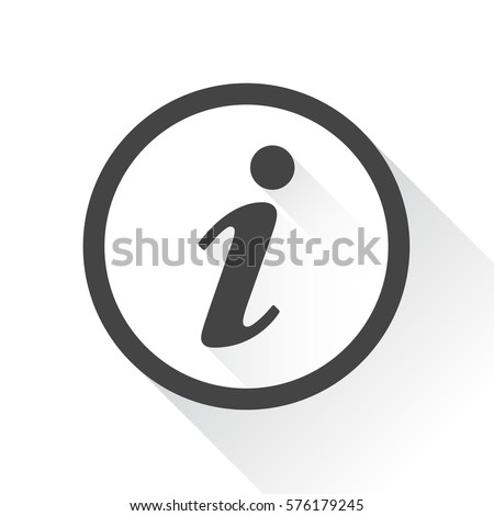 Information Icon vector illustration in flat style isolated on white background with long shadow. Speech symbol for web site design, logo, app, ui.
