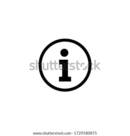 Information icon vector. Info and Faq icon symbol illustration Foto stock ©