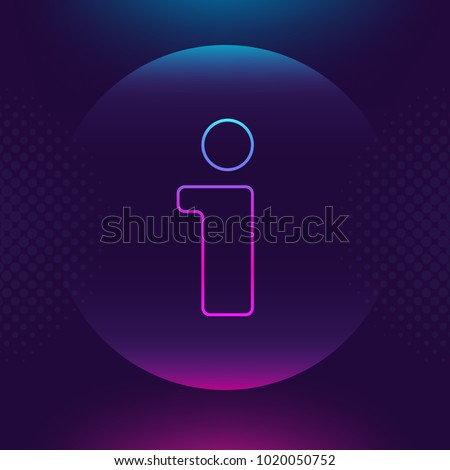 Information icon vector, info center neon luminous bright line sign . Help, index, infographics, question concept Trendy Flat style for graphic design, logo Web site, social media, UI, mobile upp, EPS