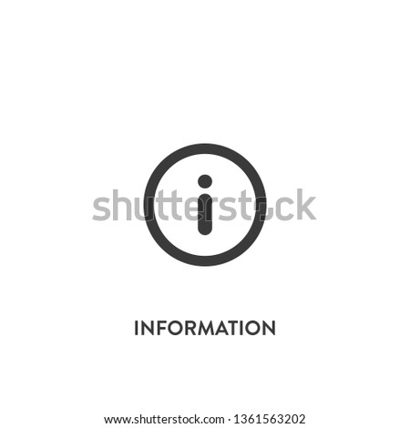 information icon vector. information sign on white background. information icon for web and app