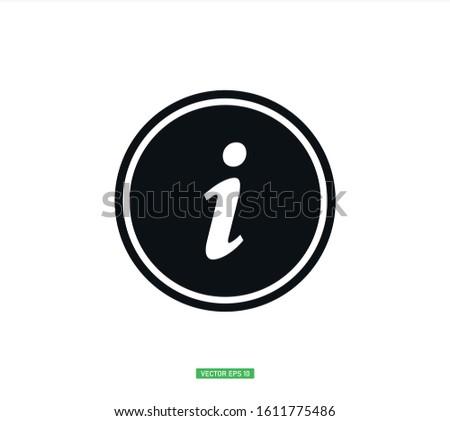 Information icon vector , Information symbol
