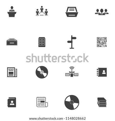 Information icons set - info web sign and symbols - internet design computer illustrations