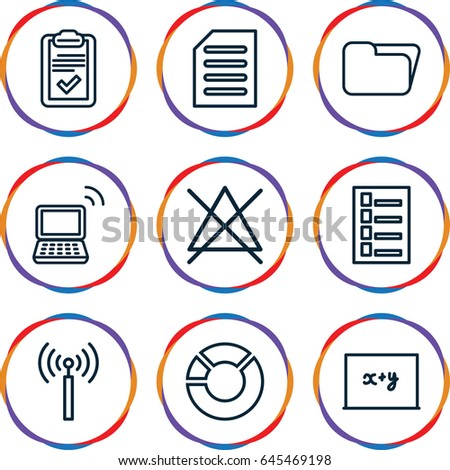 information icons set set of 9