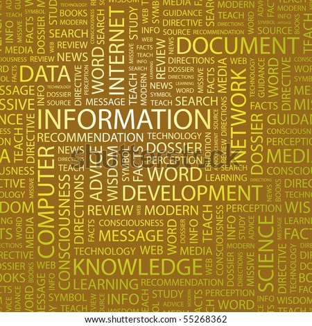 INFORMATION. Illustration with different association terms.