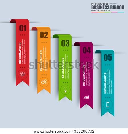 Information infographics design. Infographics statistic vector. Infographic for presentation. Infographic banner or infographic elements. Infographic ribbons information set.