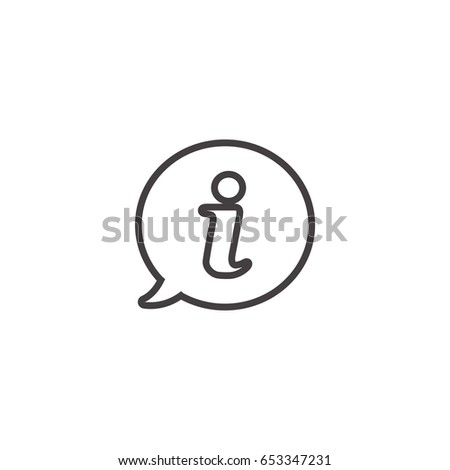 Information line icon