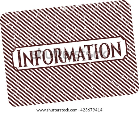 Information rubber stamp