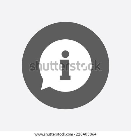 Information sign icon. Info speech bubble symbol.Flat design. Stockfoto ©