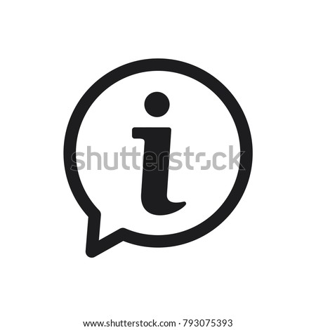 information sign icon, information icon in trendy flat design