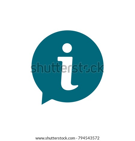 information sign icon, information sign icon in trendy flat style