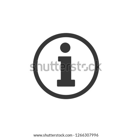 Information sign icon,vector. Flat design.