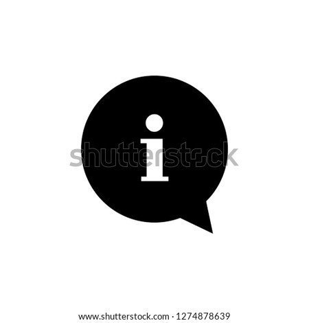 Information sign icon vector. information notice symbol
