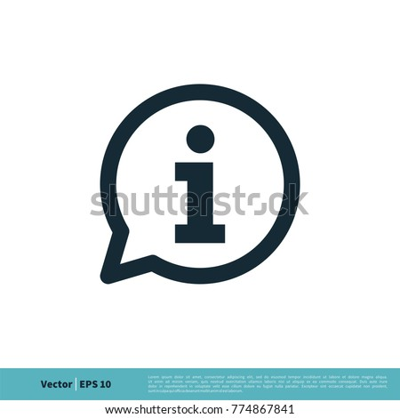 Information Sign Icon Vector Logo Template