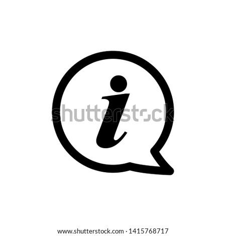 Information Sign Icon Vector Logo Template - Vector