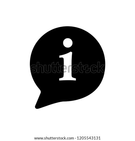 Information Sign Icon Vector on Glyph Style White Background.