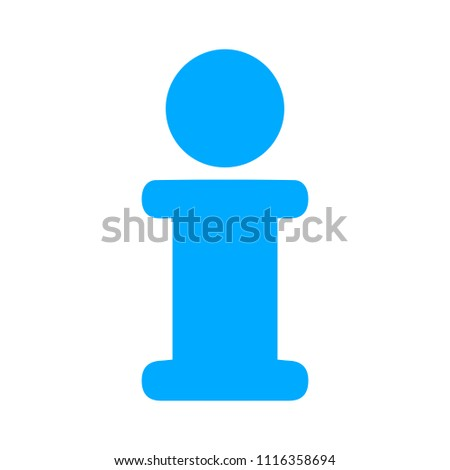 Information sign symbol, info icon isolated
