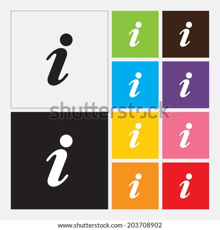 Information sign - Vector