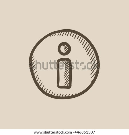 Information sign vector sketch icon isolated on background. Hand drawn Information sign icon. Information sign sketch icon for infographic, website or app.