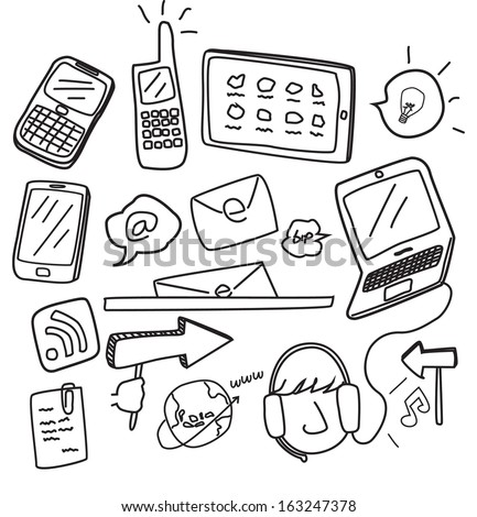 information technology doodle