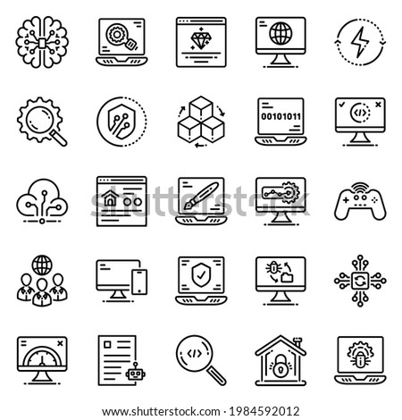 information technology icon set