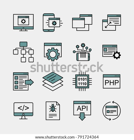 Information technology IT vector icons