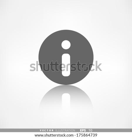 Information web icon. Help, FAQ symbol.