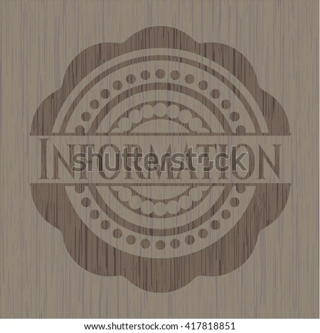 Information wooden signboards